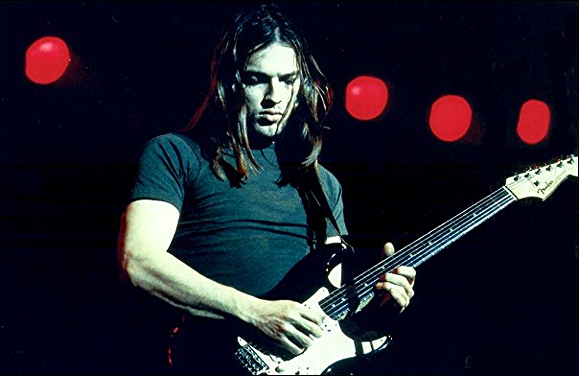 David gilmour with fender stratocaster